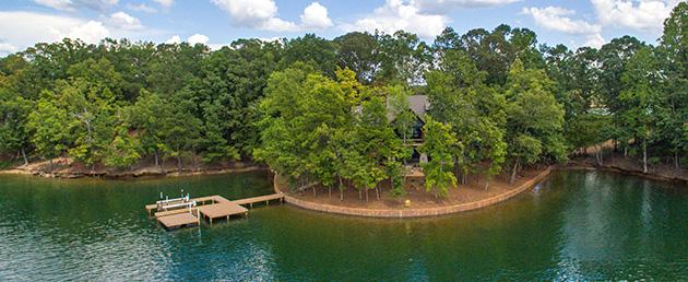 Breakwater lake home design at South Ridge Harbor
