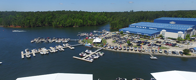 The Ridge Marina on Lake Martin during 2016 In-Water Boat Show