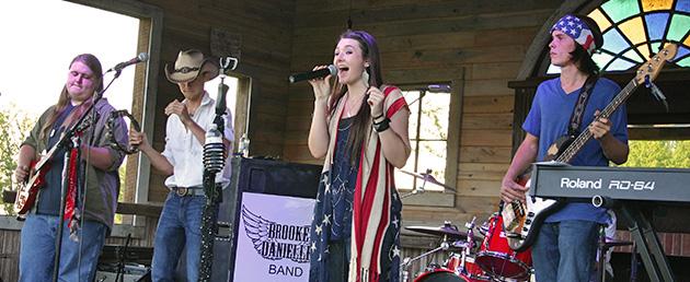 Brooke Danielle Band at RXR Fest at Russell Crossroads, Lake Martin, Alabama