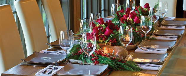 SpringHouse holiday table