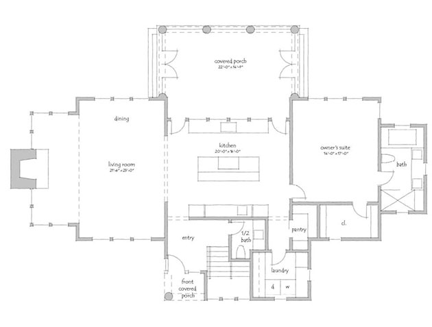 Country living magazine house plans top hallway for Country living magazine house plans